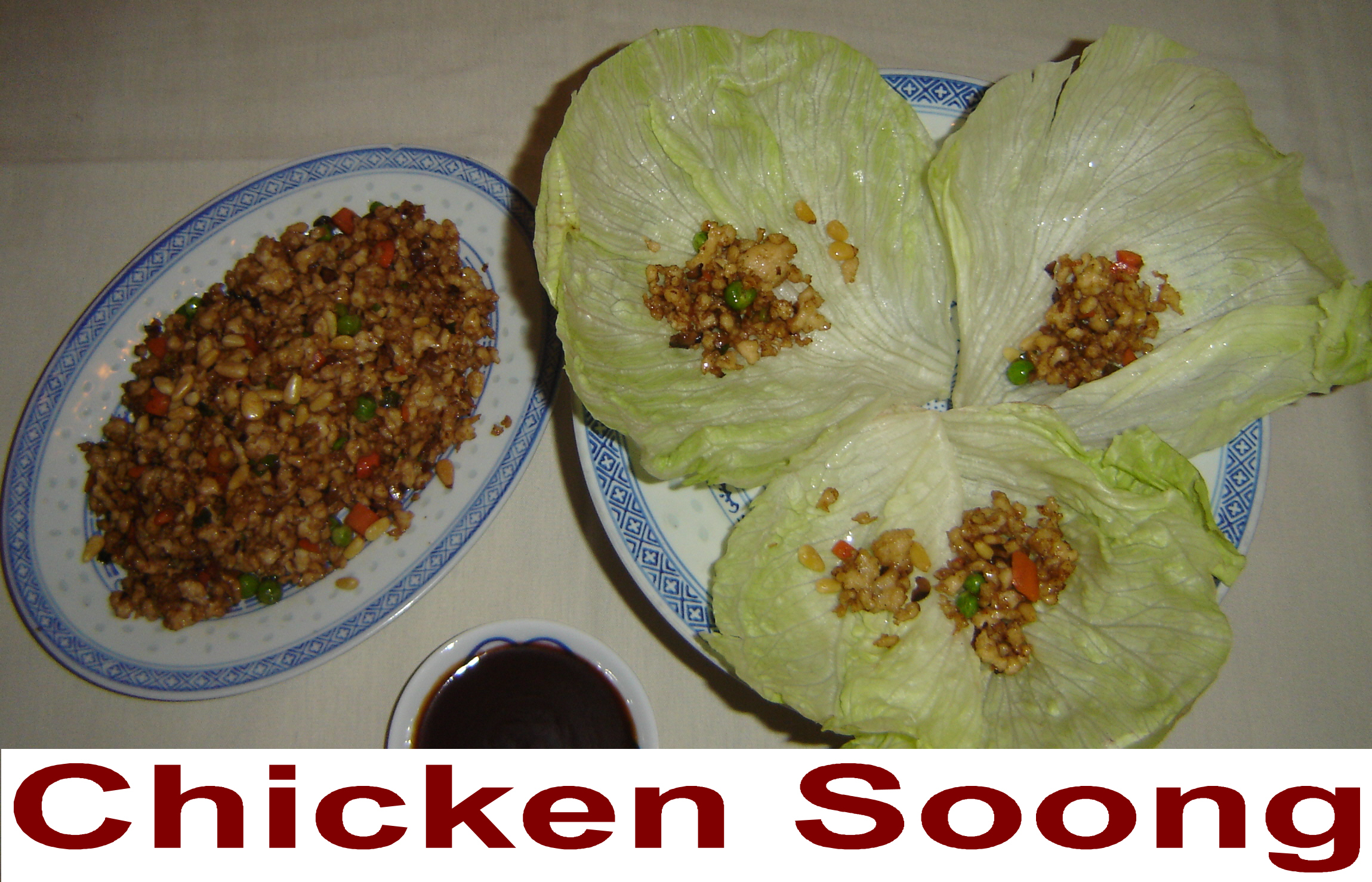Chicken Soong (4 lettuce wraps)